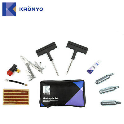 Universal Motorcycle Bike Atv Quad Car Puncture Tyre Repair Kit Tubeless Co2