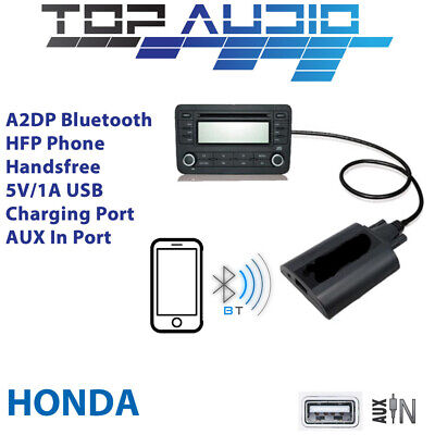 Car Bluetooth USB AUX Input hands free A2DP Audio Kits Interface Adaptor Honda