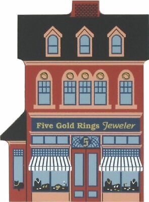 Cat's Meow Village 12 Days Christmas Five Gold Rings Jeweler #00-432 NEW