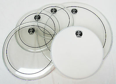 12 13 16 Clear Stripe Tom, 22 Bass and 14 Coated Snare Drum Head Drum Skin Pack