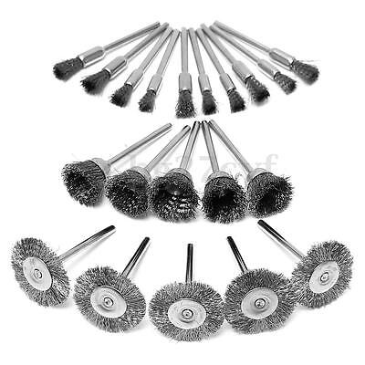 20Pcs 3mm Stainless Wire Wheel Polishing Brush Grinder Rotary Tool for Dremel