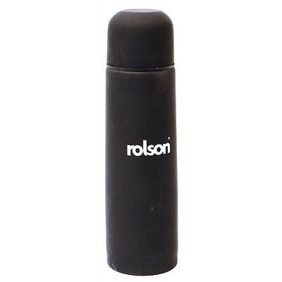 Rolson 42916 500ml Stainless Steel Flask Soft Finish Travel Picnics Camping