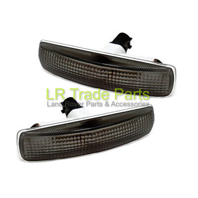 Land Rover Discovery 3 & 4 New Smoked Tinted Side Repeaters Indicator Lights X2