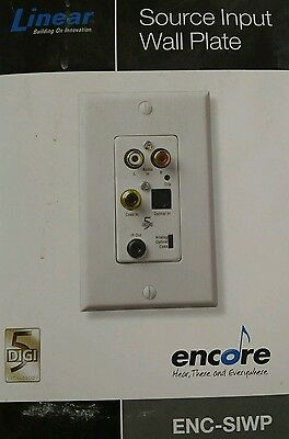 NEW Linear Source Input Wall Plate ENC-SIWP