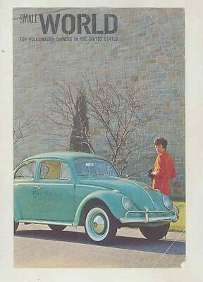 1966 ? Volkswagen Beetle Small World Brochure Assembly Line x8633