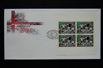 Euro 1996  Bobby Moore  Royal Mail Manchester H/s Football First Day Cover