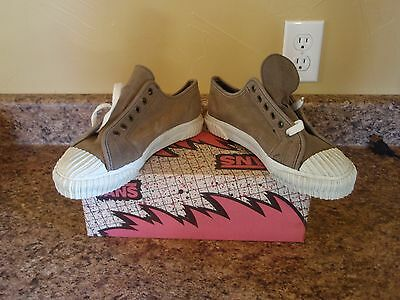 Nos Vintage 1990 Vans Plimsoll W/ribbed Bumper Stone Womens Shoes Sz 8 Pink Box