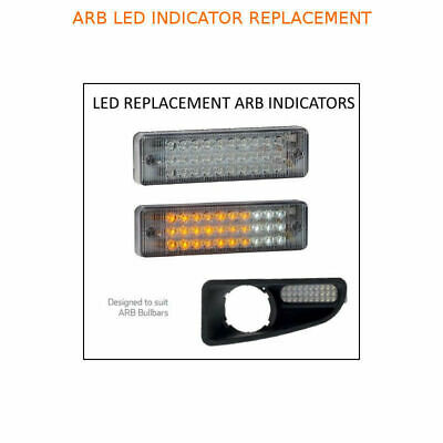 PAIR LED Bullbar ARB Indicator and Parker Light Clear Lens Suits many bullbars