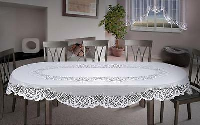 Oval Lace Tablecloth White Large Premium Quality