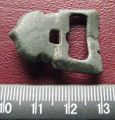 Authentic Ancient Artifact > 8th Century Byzantine Bronze belt buckle 13393