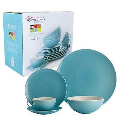 Maxwell & Williams Colour Basics Dinner Set, Blue, 20 Pc, Plate / Bowl / Cup