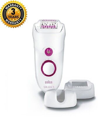 Braun Silk-épil 5 5380 Epilator with 2 Attachments and Cooling Glove New Sealed
