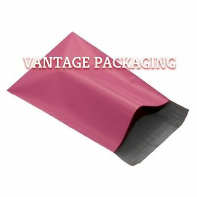 Pink Postage Mailing Mailers Mail  Postal Polythene Plastic Strong Cheap Bags