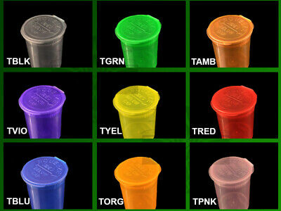 13 Dram Squeeze Pop Top Container 315 Case Quantity Count Selection 15 Colors