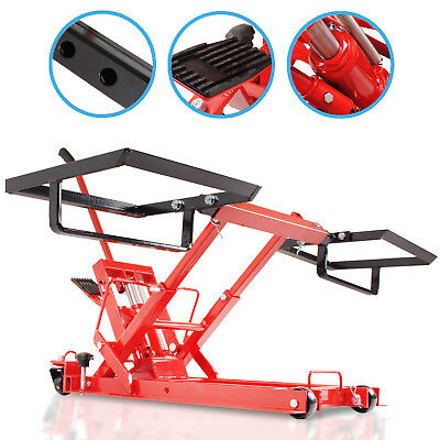 680kg 1600lb HYDRAULIC QUAD LAWN MOWER TRACTOR SERVICE LIFT LIFTING JACK STAND