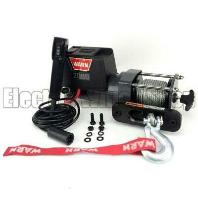 Warn DC 2000 lb 12v Electric Utility Winch with 907 kg Capacity