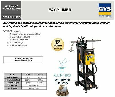 Gys Easyliner New Dent Pulling Puller System Machine Small Medium Big Dents