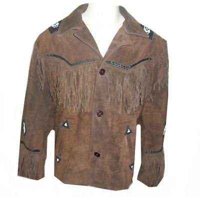 Kfire  Western A Grade Suede Leather Jacket -Many Sizes