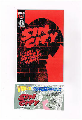 SIN CITY #1/2 Great limited edition from Dark Horse & Wizard w/ COA! NM