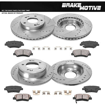 FRONT /& REAR CERAMIC BRAKE PADS FOR HYUNDAI ELANTRA 1.8L 2011 2012 2013