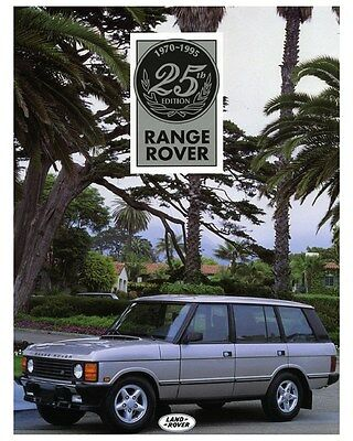 1995 Range Rover 25th Anniversary Edition Photo Poster zca3530