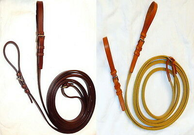 SALE Stubben 1070 German Leather Web Continental Training Draw Running Reins
