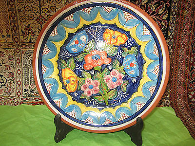 Hand Painted Ceramic Pottery Plate.madeira- Portugal. Artist Signed.vgc *read*