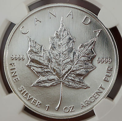Canada 1998 1 oz Silver Canadian Maple Leaf Coin   MS 67 NGC