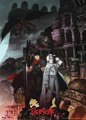 Berserk Gutts and Griffith Wall Scroll Anime Manga Cloth Poster NEW