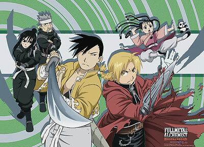 Fullmetal Alchemist Brotherhood Ed and Ling Wall Scroll Poster Anime NEW