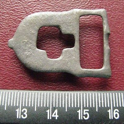 Authentic Ancient Artifact > 8th Century Byzantine Bronze belt buckle 13383