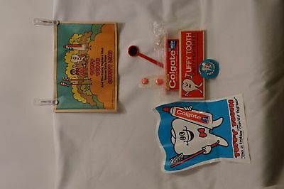 1969 TUFFY TOOTH Cavity Fighter Kit~ UNUSED~ Comic BUTTON Puppet PIN & MORE