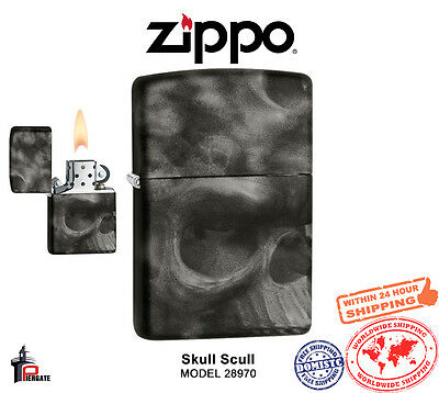 Zippo Lighter Sof Touch Skull Black Classic Windproof 28970