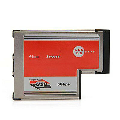 2Port USB 3.0 ExpressCard Card ASM Chip 54mm PCMCIA ExpressCard for Notebook