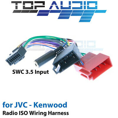wire harnesses car audio video installation vehicle jvc kd r461 iso wiring harness swc cable adaptor connector lead loom wire plug