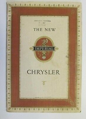 1926 Chrysler Imperial Prestige Brochure wv4234