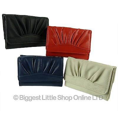 NEW Faux Leather PU Girls Teens Compact Trifold Purse/Wallet Handy Gift