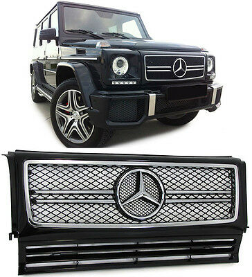 Mercedes G MODELL W463 90-10  GRILL KÜHLERGRILL FACELIFT G63 AMG LOOK SCHWARZ