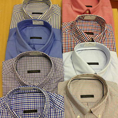 XL to 3XL EX M/&S RED Mens Pure Cotton Houndstooth Button Down Collar Shirt