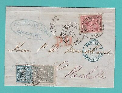 Norway Old Cover 1867  To France Exhibition Item !