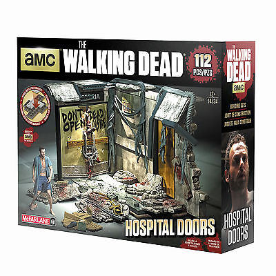 Atlanta Hospital Door Türe The Walking Dead Building Set TV MBS 14524 McFarlane
