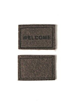 Fairy Door Mats Set Of 2 - Use With Any Of Our Fairy Doors & Accessories - New