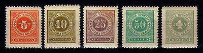 Montenegro 1901 - Postage Due Sc# J9 - J13 Mint Never Hinged