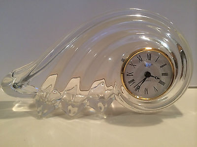 Glass Decorative Table Clock / Mikasa / Germany/ Clearwater