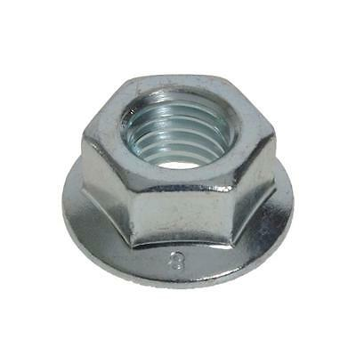 Pack Size 20 Zinc Plated Hex Flange M8 (8mm) Metric Serrated Class 8 Nut