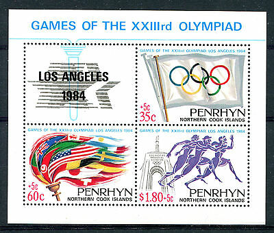 Penrhyn Is 1984 Olympic Games MS MNH