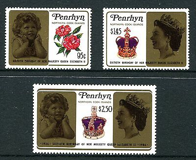 Penrhyn Is 1986 60th Birthday of the Queen MNH