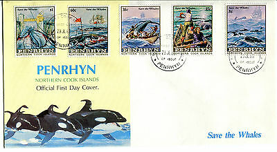 Penrhyn Island 1983 Whale Conservation FDC