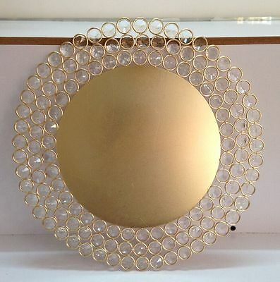 Crystal Gold Charger Plates Gold Charger Plates with Crystal Beads  USA  Seller