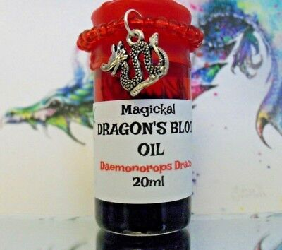 Dragon's Blood Oil Ritual Wicca Hoo-Doo Magick 20 ml Spell Casting Anointing